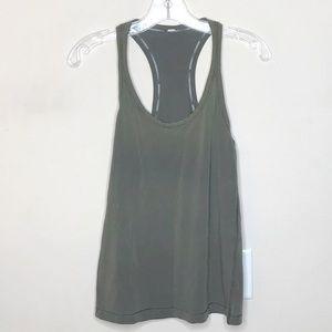 Lululemon Olive Green Tank Top Women's Size 2